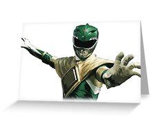 Might Morphin Power Rangers - Green Ranger Greeting Card
