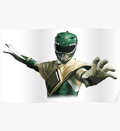 Might Morphin Power Rangers - Green Ranger Poster
