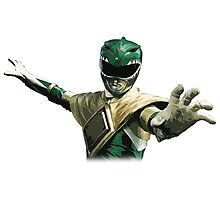 Might Morphin Power Rangers - Green Ranger Photographic Print
