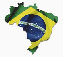 Brazil Flag Country Kids Clothes