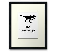 Team T-Rex Framed Print