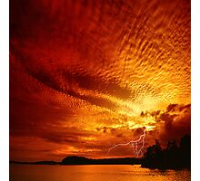 Red Storm Photographic Print