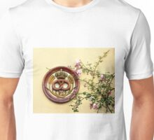Crowned Pretzel Sign and Roses Unisex T-Shirt