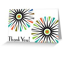 Starburst -  Thank You - Card Greeting Card