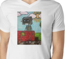 We have to grow old, we don't have to grow up. Mens V-Neck T-Shirt