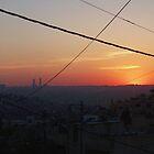 Sun Sets Over Amman.  by ayham Salameh