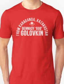 Gennady Golovkin - Letterpress T-Shirt