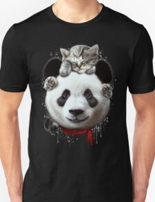CAT ON PANDA T-Shirt