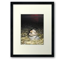 Toppled through the Water Framed Print