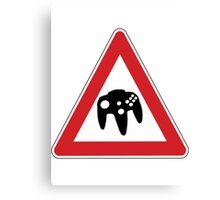 Retro Games Traffic Canvas Print