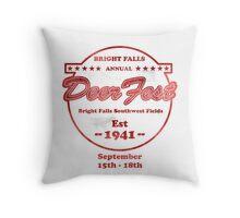 Deerfest Throw Pillow