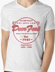 Deerfest Mens V-Neck T-Shirt