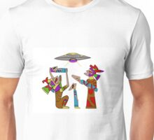 Mayan Alien Offering Unisex T-Shirt