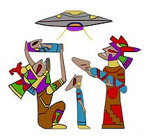 Mayan Alien Offering by Mayan-God
