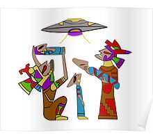 Mayan Alien Offering Poster