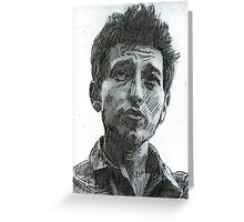 PORTRAIT OF BOB DYLAN Greeting Card
