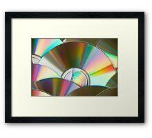 Rainbow CDs Framed Print