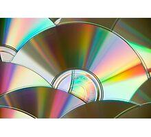 Rainbow CDs Photographic Print