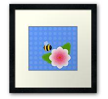 Bumble Blossom Framed Print