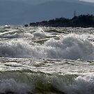 Waves off of Pebble Beach, Marathon Ontario Canada by loralea