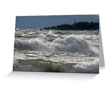 Waves off of Pebble Beach, Marathon Ontario Canada Greeting Card