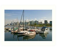 Coal Harbour, Vancouver, Canada Art Print