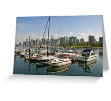 Coal Harbour, Vancouver, Canada Greeting Card