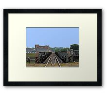 Riding The Rail In Des Moines Framed Print