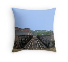 Riding The Rail In Des Moines Throw Pillow