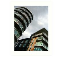 insomniac photos - rising buildings  Art Print