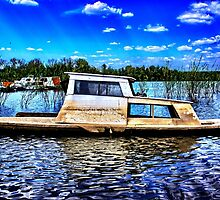 Abandoned River Boat Fine Art Print by stockfineart