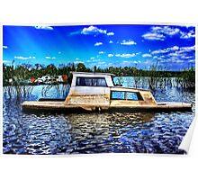 Abandoned River Boat Fine Art Print Poster