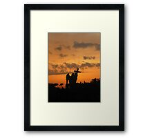 Angel with the Cross Wreathed in Fire Framed Print