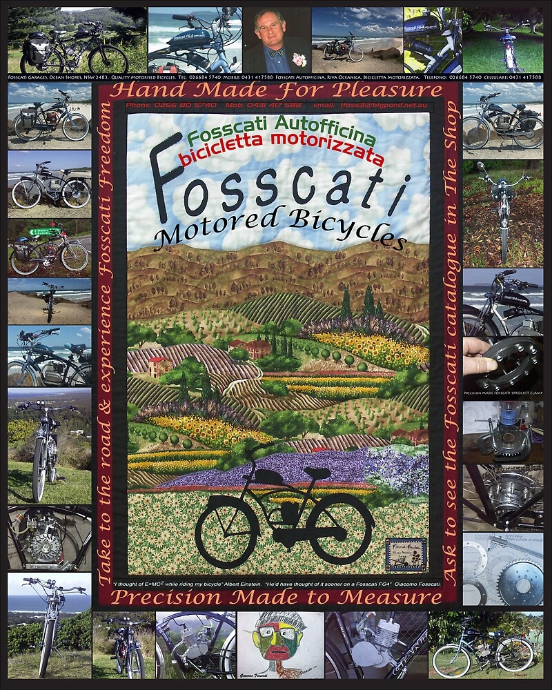 Fosscati Motored Bikes Poster by Fossdos