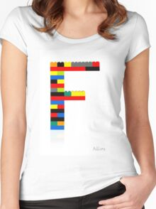 """""""F"""" Women's Fitted Scoop T-Shirt"""