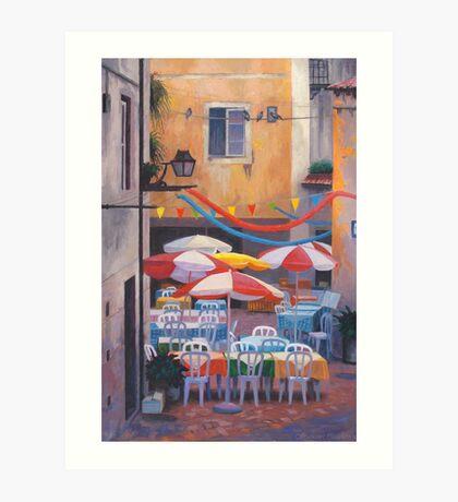 Lisbon Terrace Art Print