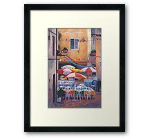 Lisbon Terrace Framed Print