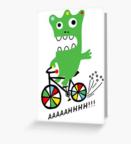 Critter Bike ll - card  Greeting Card