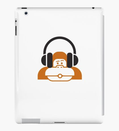 Monkey music headphones iPad Case/Skin