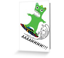 Critter Surf  ll - card Greeting Card