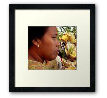 Ubud Lady, Bali Framed Print