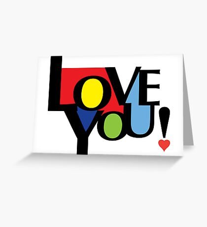 Love You  ll - card Greeting Card
