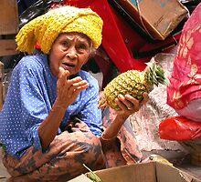 Pineapple Lady, Ubud Market, Bali by JonathaninBali