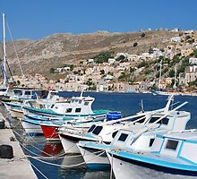 Yialos harbour on Symi by David Fowler