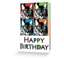 Shadow Cat Birthday  ll - card Greeting Card