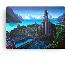500 years later - Final Fantasy VII fan art Canvas Print