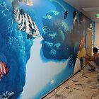 Underwater Reef Mural by tomcosic