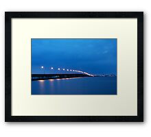 Bay Bridge to Ocean City Maryland Framed Print
