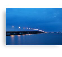 Bay Bridge to Ocean City Maryland Canvas Print