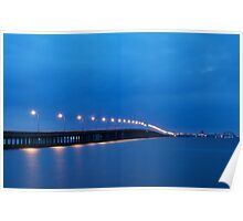 Bay Bridge to Ocean City Maryland Poster